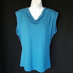 August silk popover blouse size medium